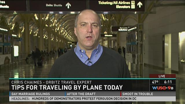 Tips for traveling by plane Wednesday