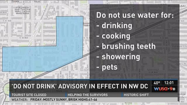 Do Not Drink Advisory area