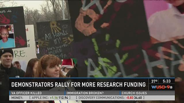 Demonstrators protest for more funding for childhood
