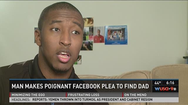 Man makes Facebook plea to find dad