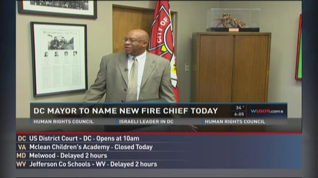 DC mayor to name new fire chief
