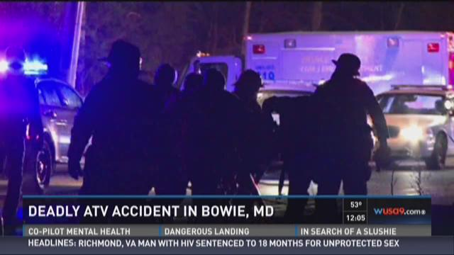 Man killed in ATV accident in Bowie, Md.