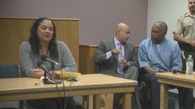Arnelle Simpson speaks on behalf of her father, O.J. Simpson