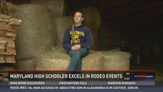 Maryland high schooler excels in rodeo events