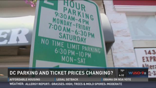 DC parking and ticket prices changing?