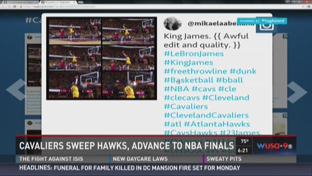 Cavaliers sweep Hawks, advance to NBA Finals