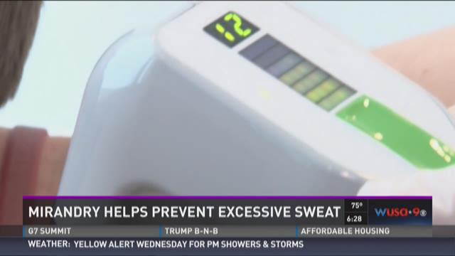 "Using microwave heat to ""Zap"" away the sweat!"