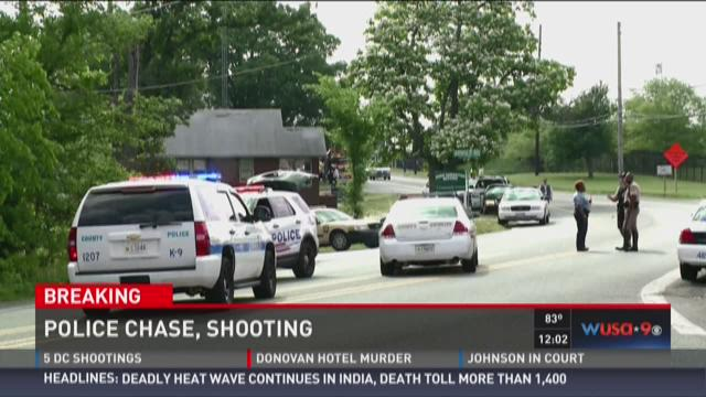 DC police chase, shooting related to robberies