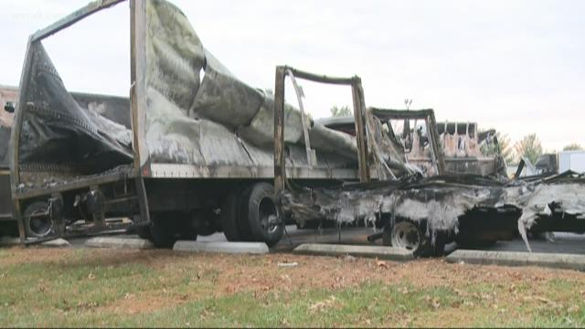 UPS trucks, packages damaged in Maryland fire