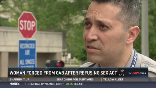 Woman forced from cab after refusing sex act