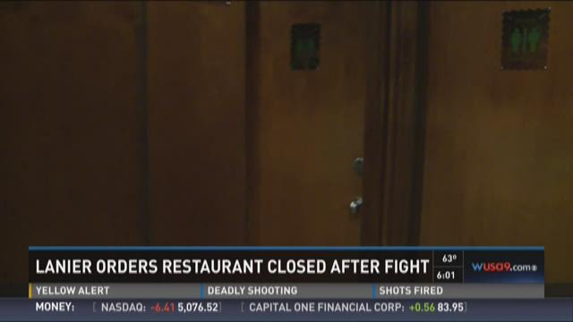 Lanier orders restaurant closed after fight