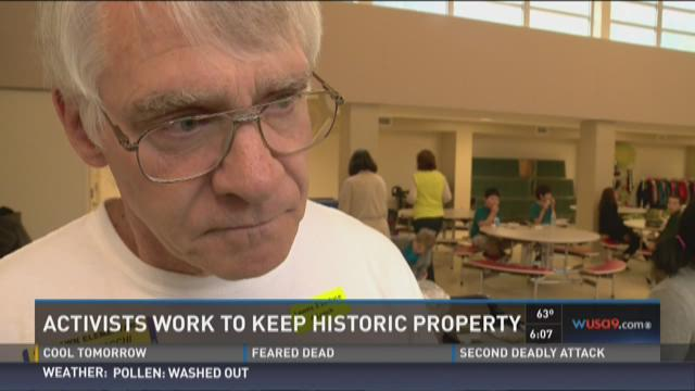 Activists work to keep historic property