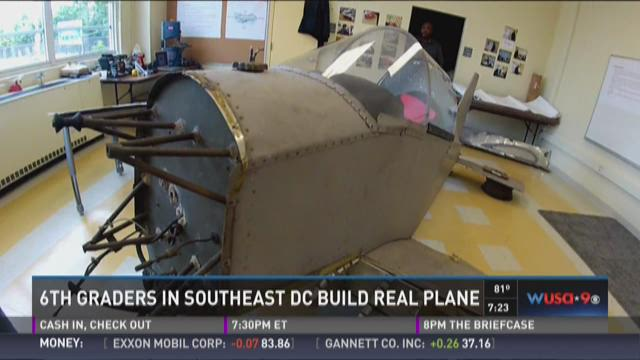 6th graders in Southeast DC build real plane