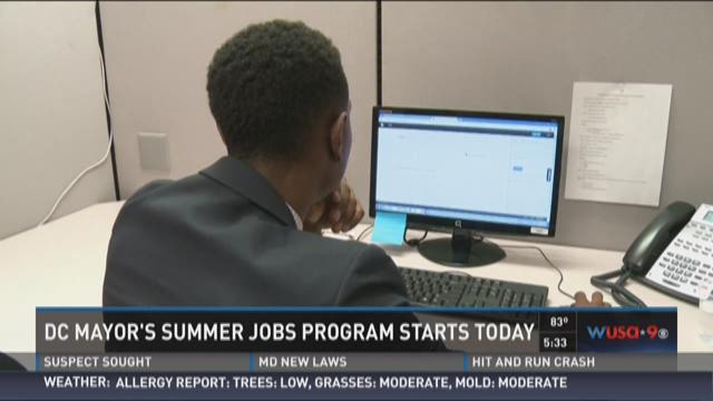 DC mayor's summer jobs program starts today
