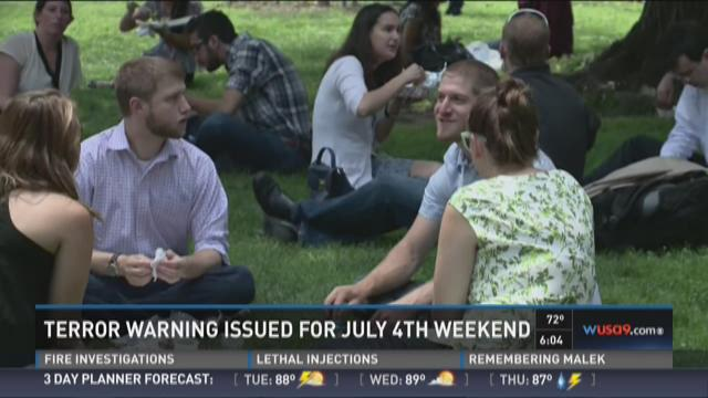 Terror warning issued for July 4th weekend
