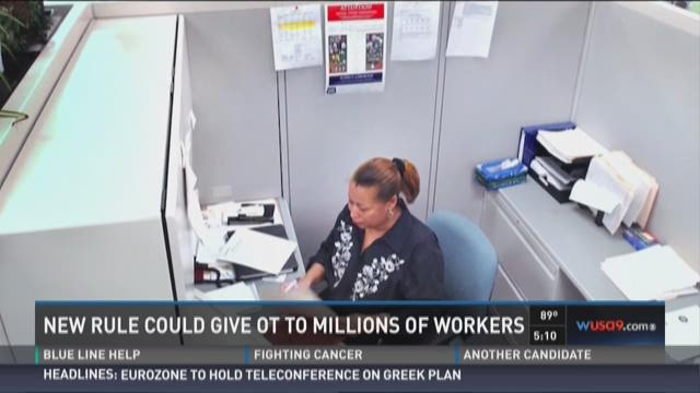 New rule could give OT to millions of workers