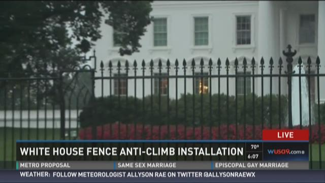 Metal spikes to be installed on White House fence