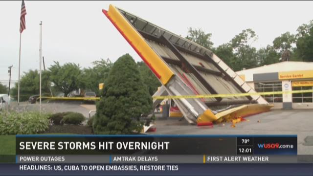 Severe storm hits overnight