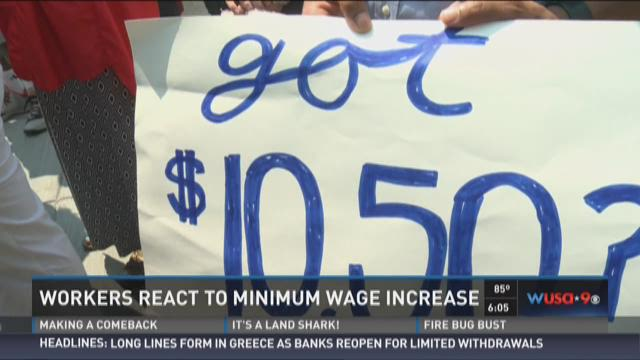 Workers react to minimum wage increase