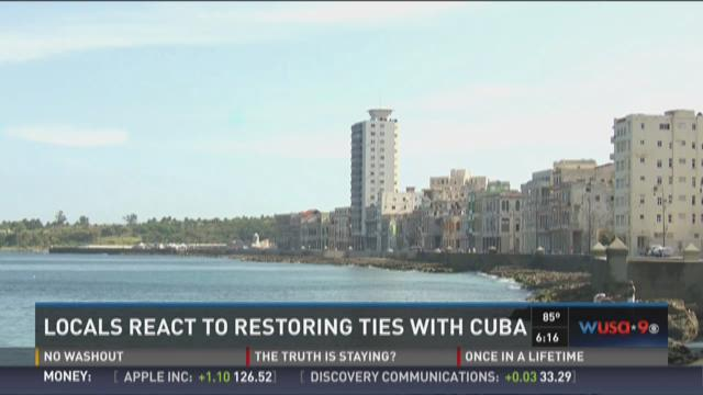 Locals react to restoring ties with Cuba