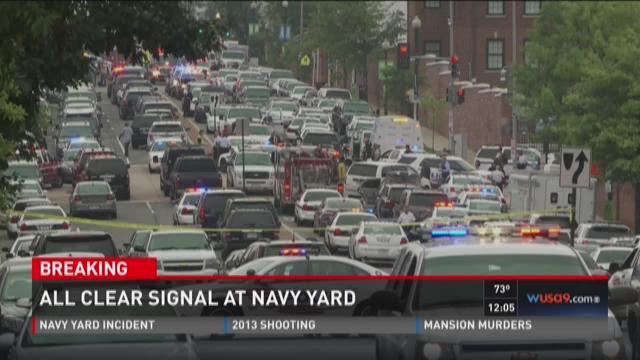 All clear signal at Navy Yard