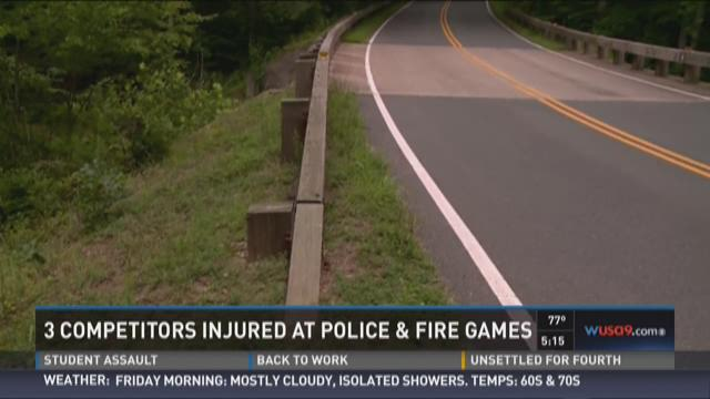 3 competitors injured at Police & Fire Games