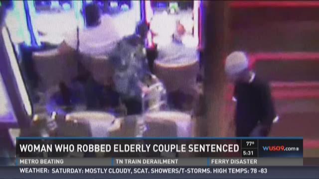 Woman who robbed elderly couple sentenced