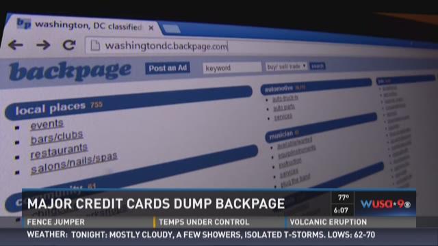 Major credit cards dump Backpage