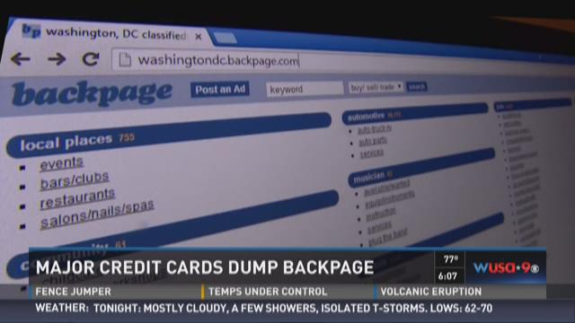 Major credit cards dump Backpage