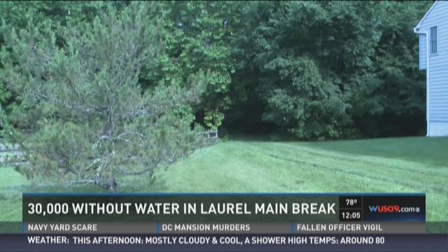 30,000 people without water in Laurel