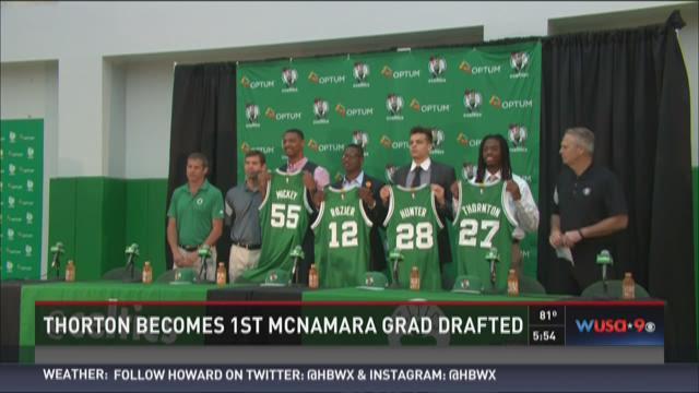 Thornton becomes 1st McNamara grad drafted