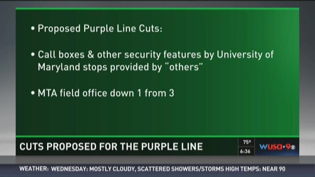 Cuts proposed for the Purple Line