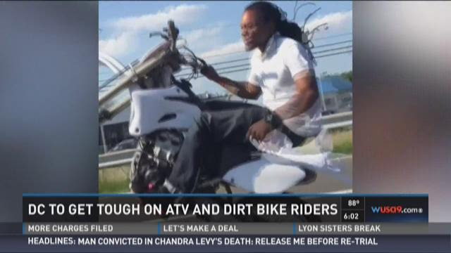Dirt Bikes In Dc down on illegal dirt bikes