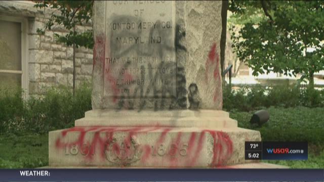 Rockville Confederate soldier statue vandalized