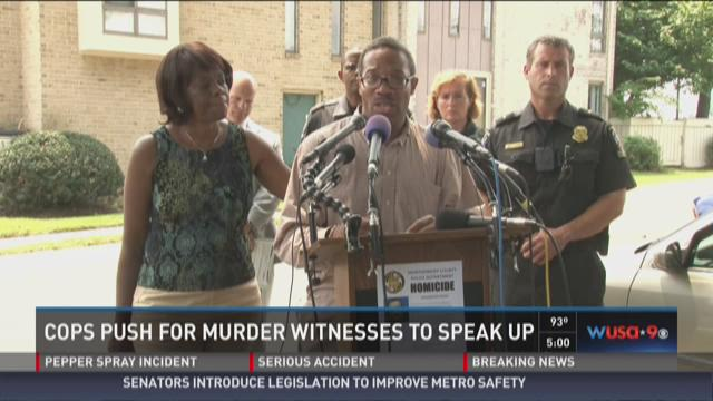 Cops push for murder witness to speak up