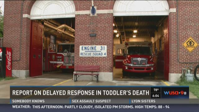 Report on delayed response in toddler's death