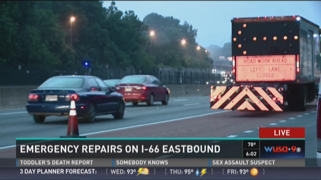 Emergency repairs on I-66 Eastbound