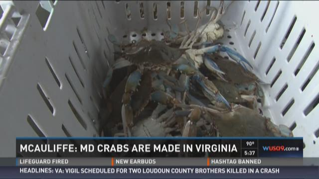 Va. Gov. McAuliffe stands by Md. crabs comment