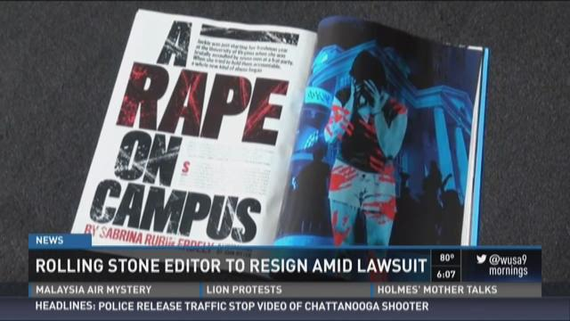Rolling Stone editor resigns