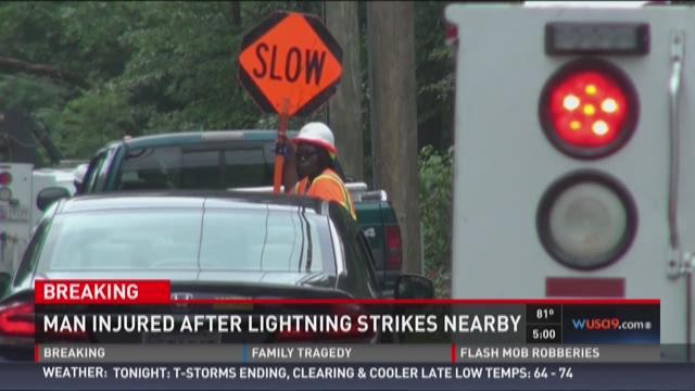 Man has medical emergency after lightning strike in Laurel