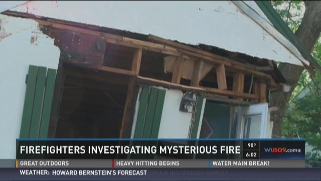 Firefighters investigating mysterious fire