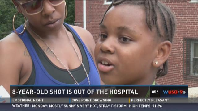 8-year-old shot is out of hosptial