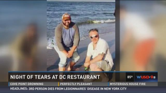 Night of tears at DC restaurant