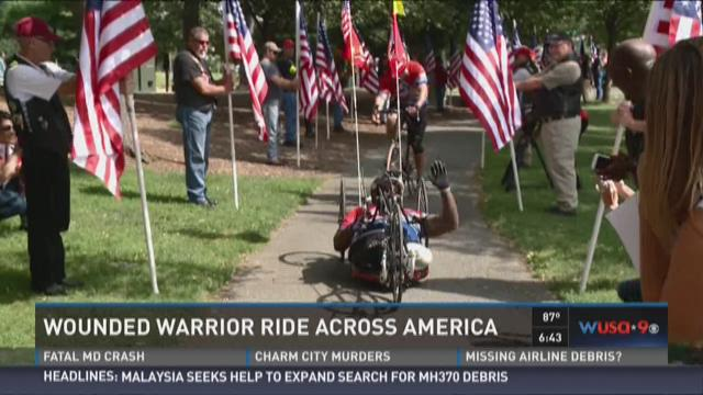 Wounded Marine finishes ride across America