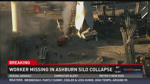 Worker missing in Ashburn silo collapse
