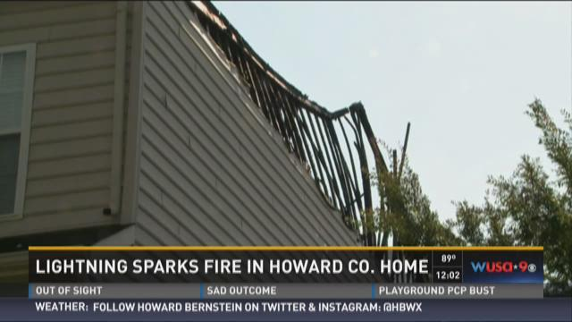 Lightning sparks fire in Howard County home