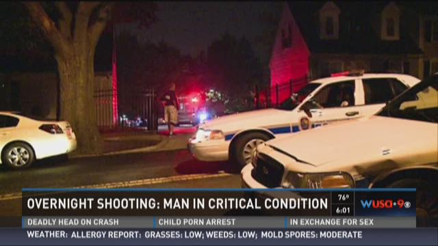 Man in critical condition after shooting