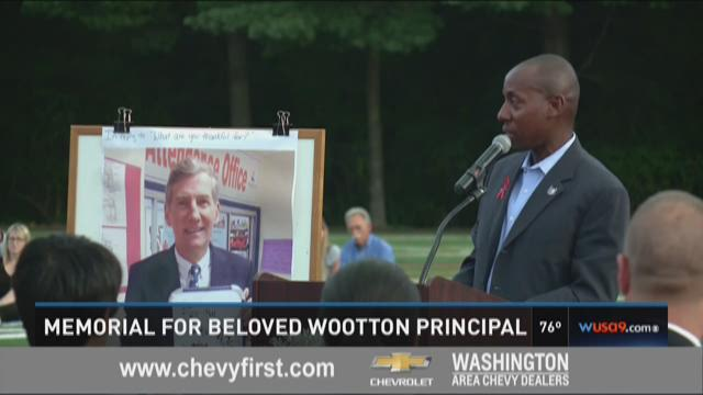 Vigil honors late Wootton High School principal