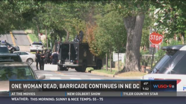One woman dead, barricade continues in NE DC