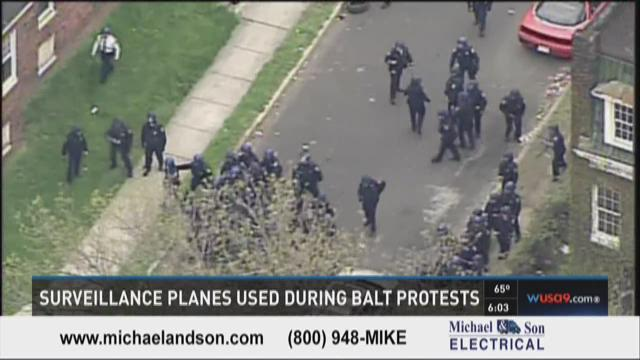 Surveillance planes used during Baltimore protests